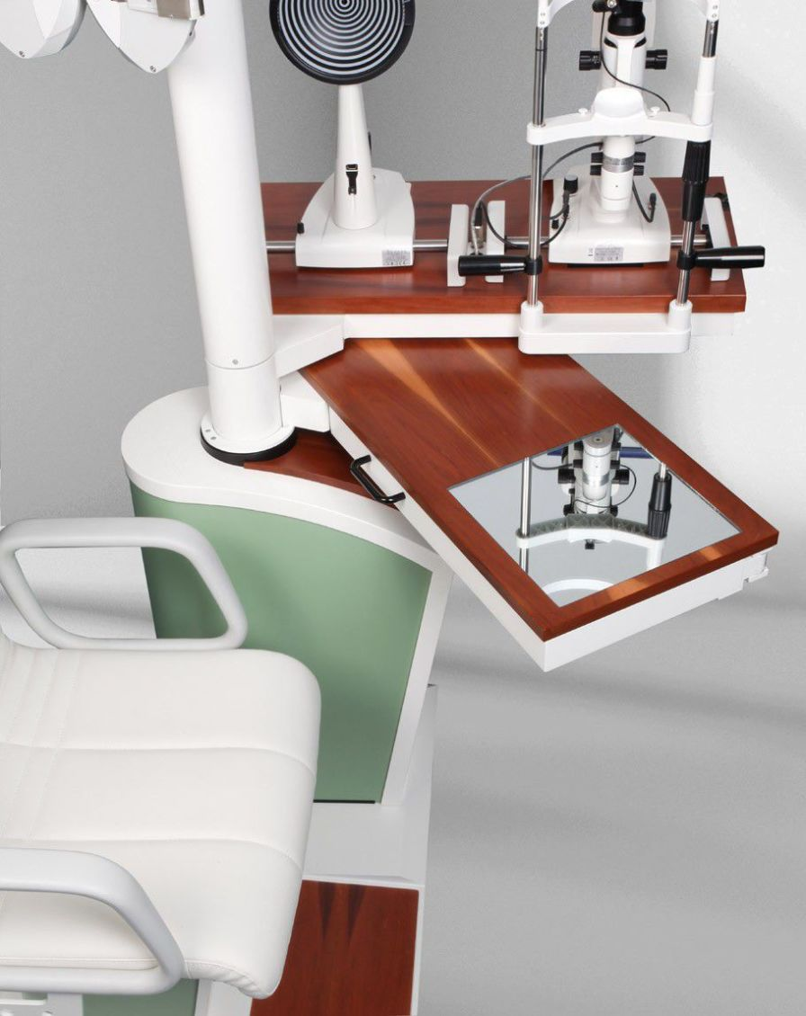 Ophthalmic workstation / with chair / equipped / 1-station bon E-20 SE bon Optic Vertriebsgesellschaft