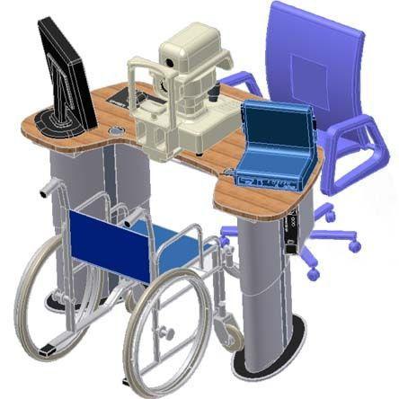 Electric ophthalmic instrument table / height-adjustable bon T-60 bon Optic Vertriebsgesellschaft