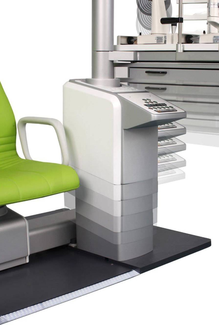 Ophthalmic workstation / with chair / equipped / 1-station bon E-70 bon Optic Vertriebsgesellschaft