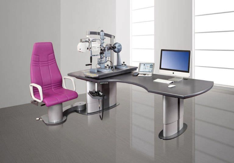 Ophthalmic workstation / with chair / equipped / 1-station bon E-30 SE bon Optic Vertriebsgesellschaft