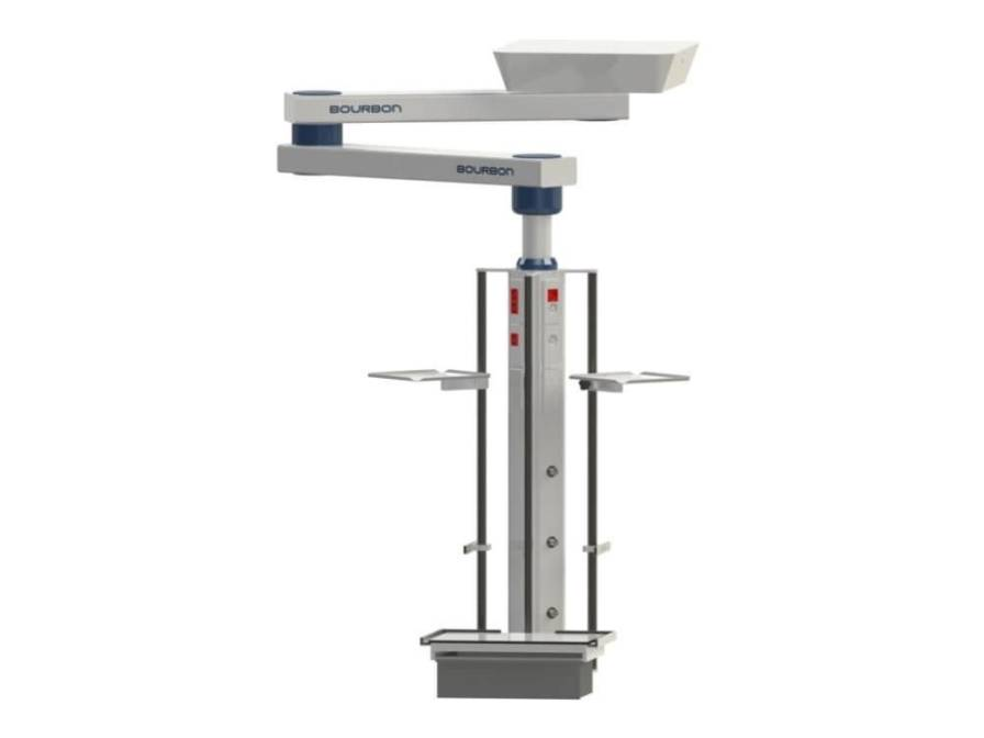 Ceiling-mounted medical pendant / articulated / with column 6RP Bourbon