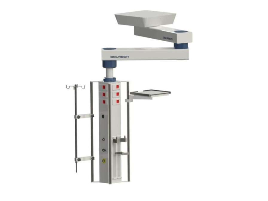 Ceiling-mounted medical pendant / articulated / height-adjustable / with column 4MT Bourbon