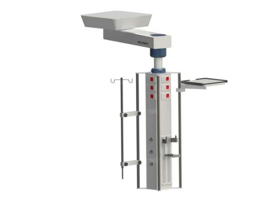 Ceiling-mounted medical pendant / articulated / with column 5RP Bourbon