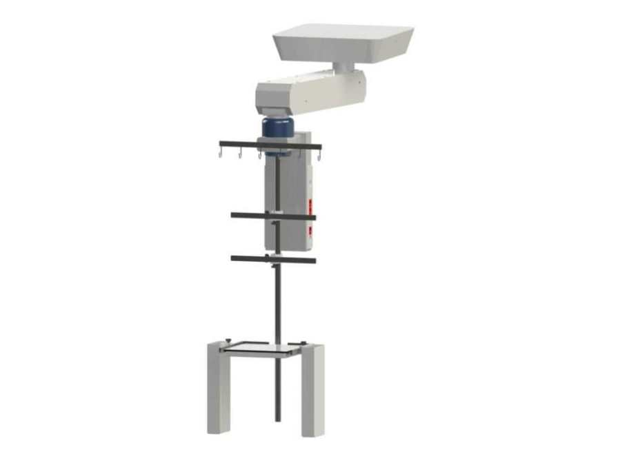 Ceiling-mounted medical pendant / height-adjustable / articulated / with column B50L Bourbon