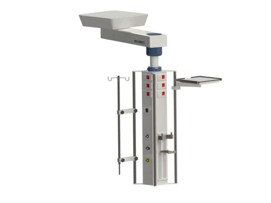 Ceiling-mounted medical pendant / articulated / height-adjustable / with column 3MT Bourbon