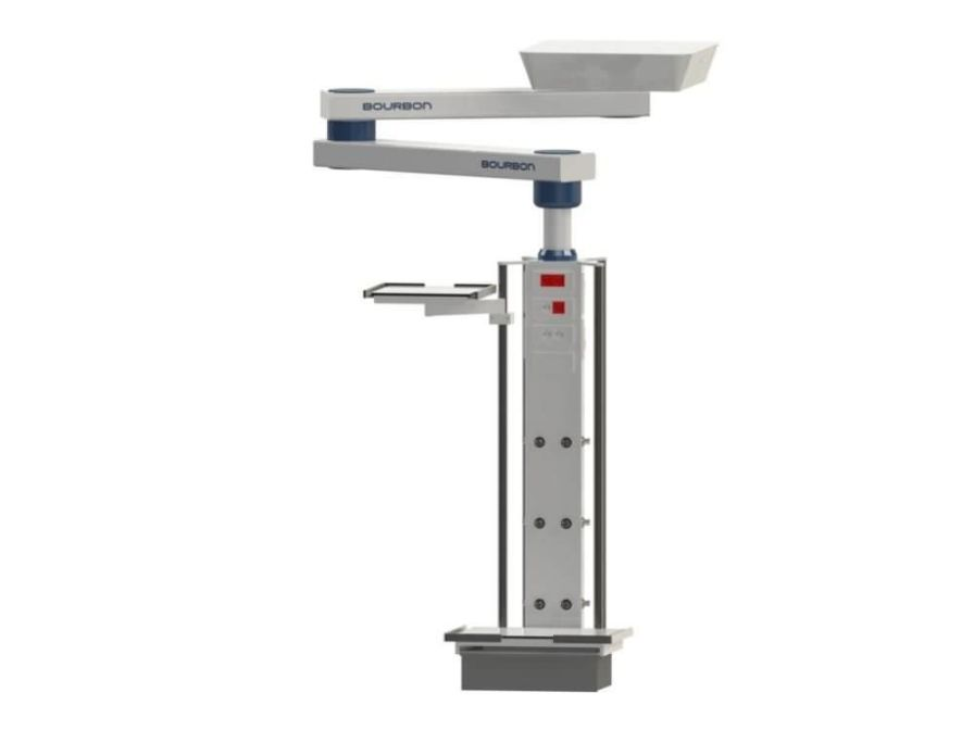 Ceiling-mounted medical pendant / articulated / with column 6M Bourbon