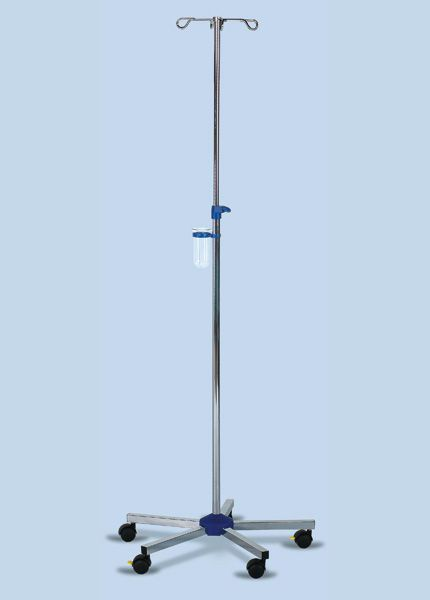 4-hook IV pole / telescopic / on casters INF-20215 AGA Sanitätsartikel GmbH
