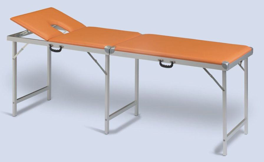 Manual massage table / folding / portable / 2 sections KOBAFLEX KF/C AGA Sanitätsartikel GmbH