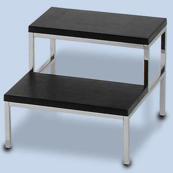 2-step step stool / stainless steel FA-3000/2 AGA Sanitätsartikel GmbH