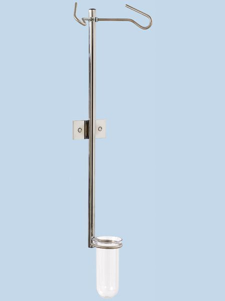 2-hook IV pole / telescopic / wall-mounted IWH-2045 AGA Sanitätsartikel GmbH