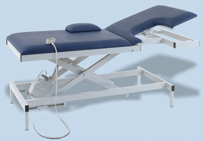 Echocardiography examination table / electrical / height-adjustable / 2-section H-EKA 1080/E 900 AGA Sanitätsartikel GmbH