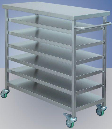 Stainless steel shelving unit / 6-shelf BMT Medical Technology