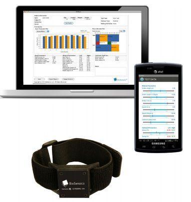 Balance sensor wearable / waist / ankle / wireless BalanSens™ Biosensics