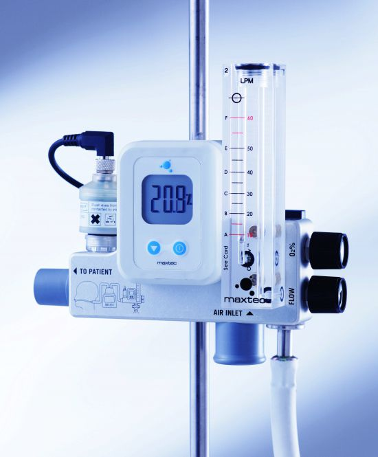 Respiratory gas blender / air / O2 / with dual flow meter tubes MaxVenturi™ Armstrong Medical