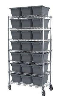 Container shelving unit / mobile AKRO-TUB Akro-Mils