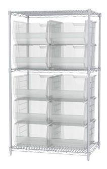 Container shelving unit SUPER-SIZE AKROBIN® Akro-Mils