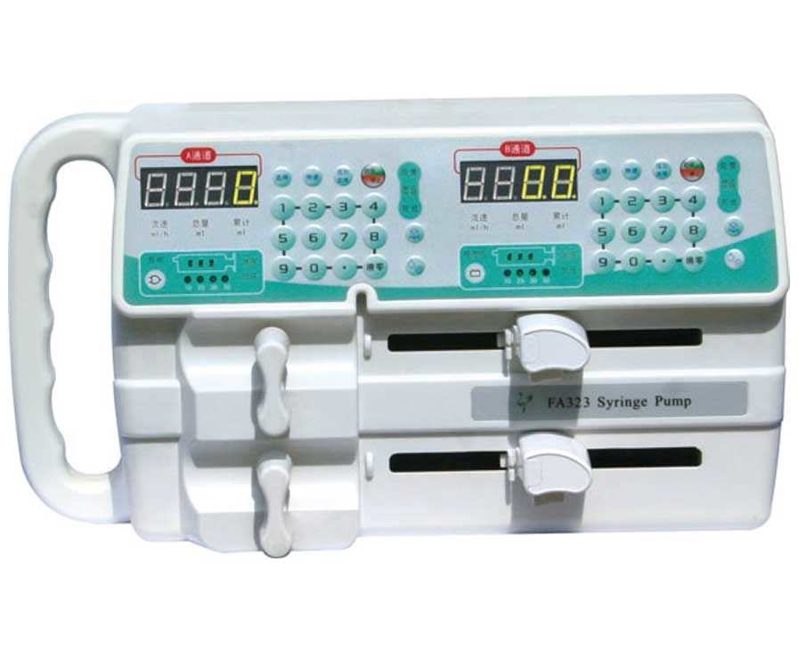 2-channel syringe pump 0.1 - 400 mL/h - FA323 Beijing Xin He Feng Medical Technology