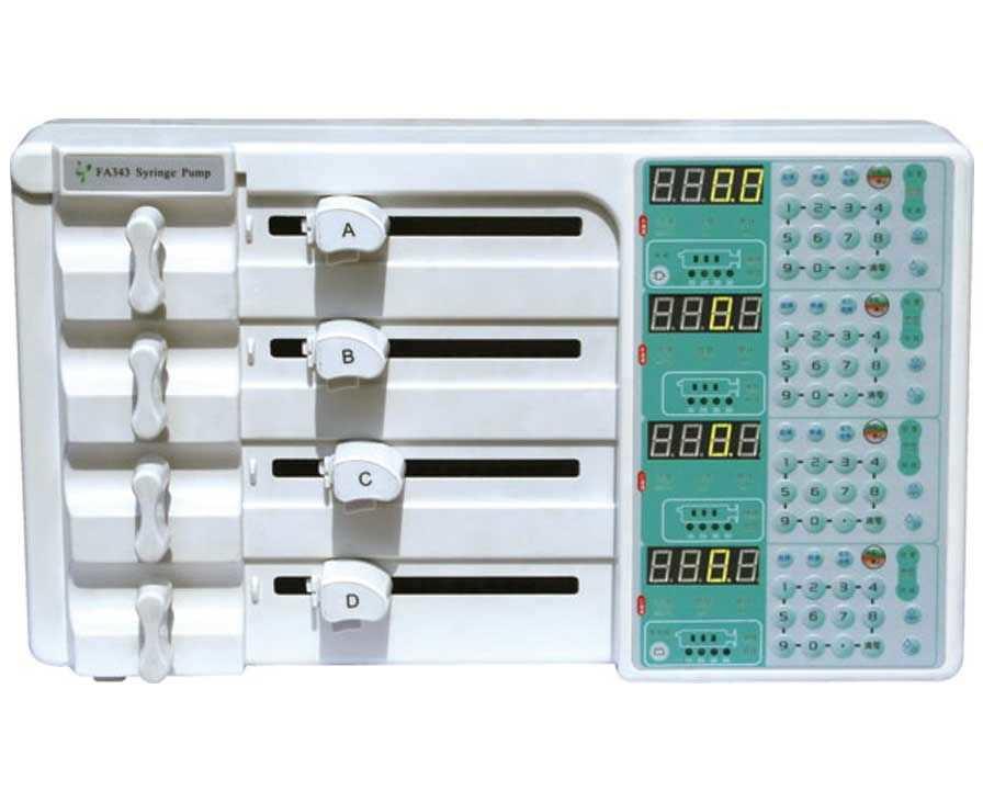 4-way syringe pump 0.1 - 400 mL/h - FA343 Beijing Xin He Feng Medical Technology