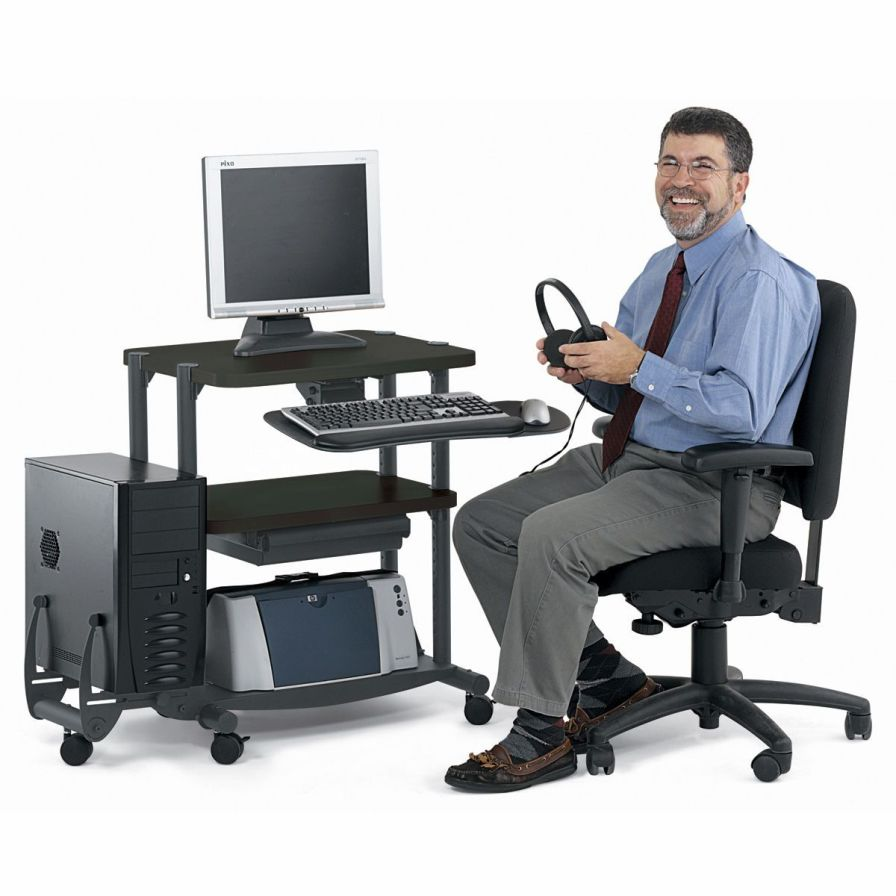 Medical computer cart UltraCompact Anthro Corporation