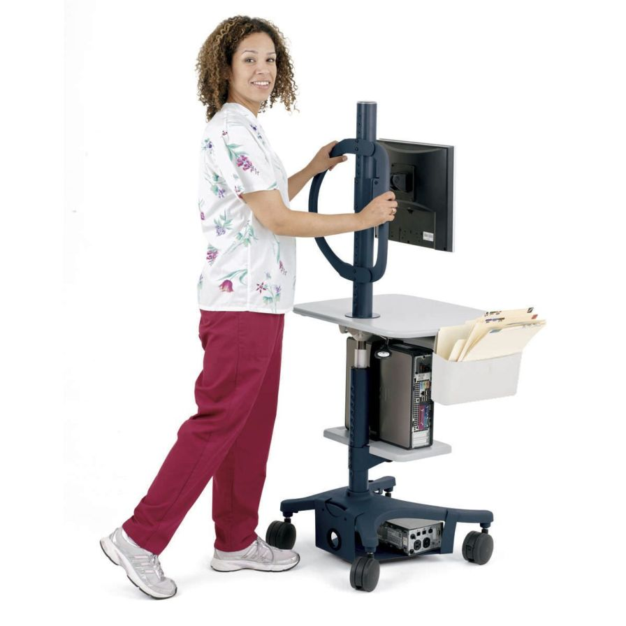 Height-adjustable computer cart / medical Zido 22W Anthro Corporation