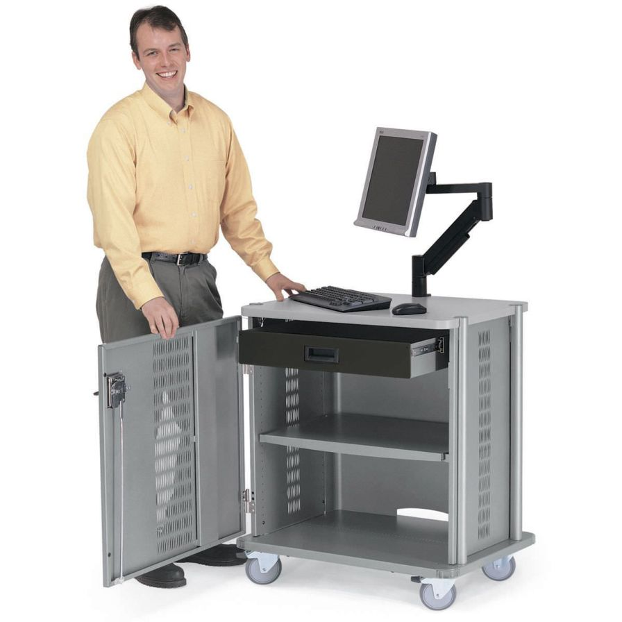 Medical computer cart Security Anthro Corporation