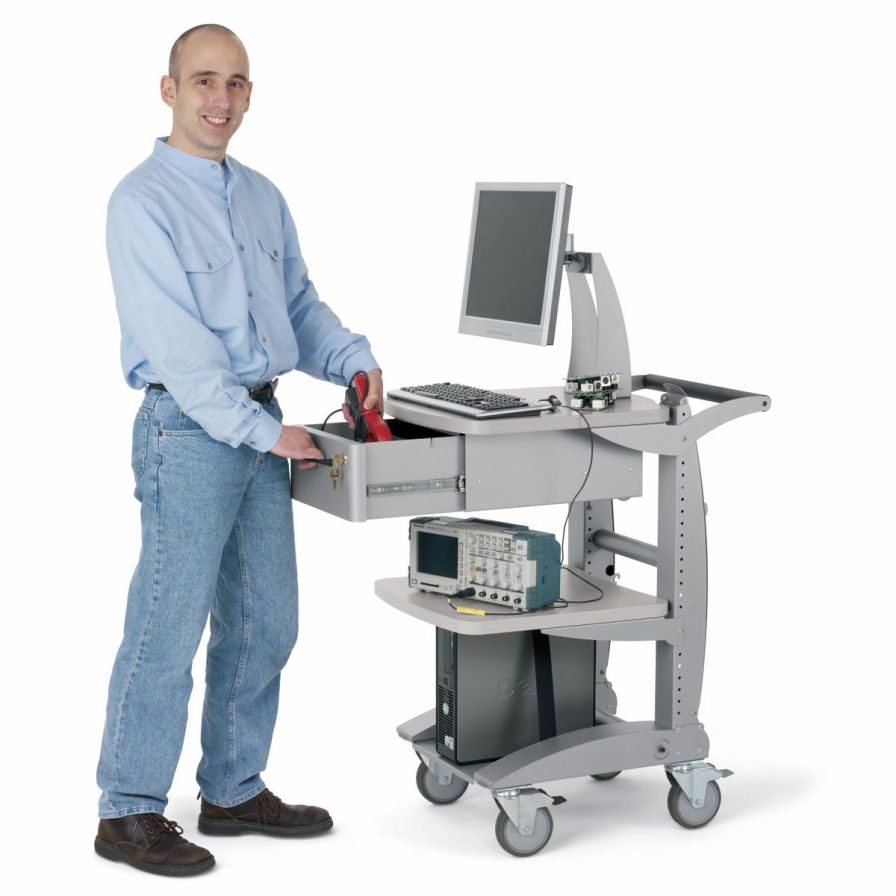 Medical computer cart Trolley Anthro Corporation