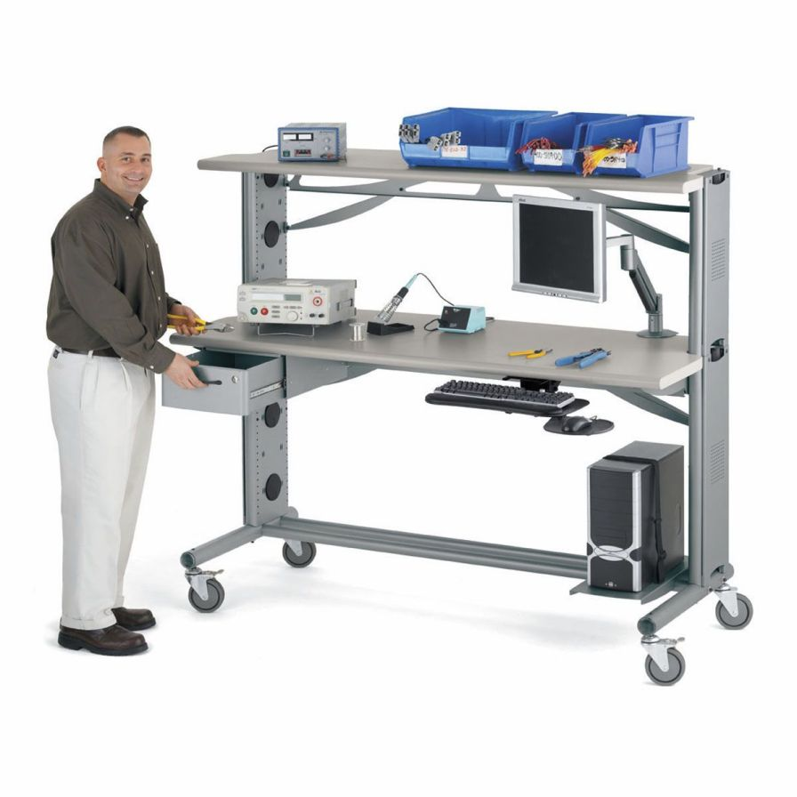 Medical computer workstation / mobile AnthroBench II Anthro Corporation