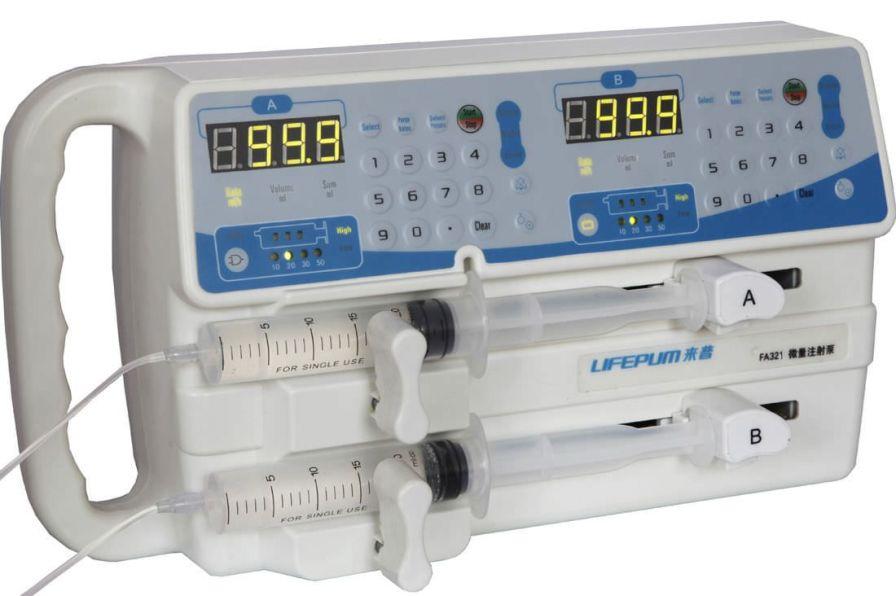 2-channel syringe pump 0.1 - 99.9 mL/h | FA321 Beijing Xin He Feng Medical Technology Co. Ltd.
