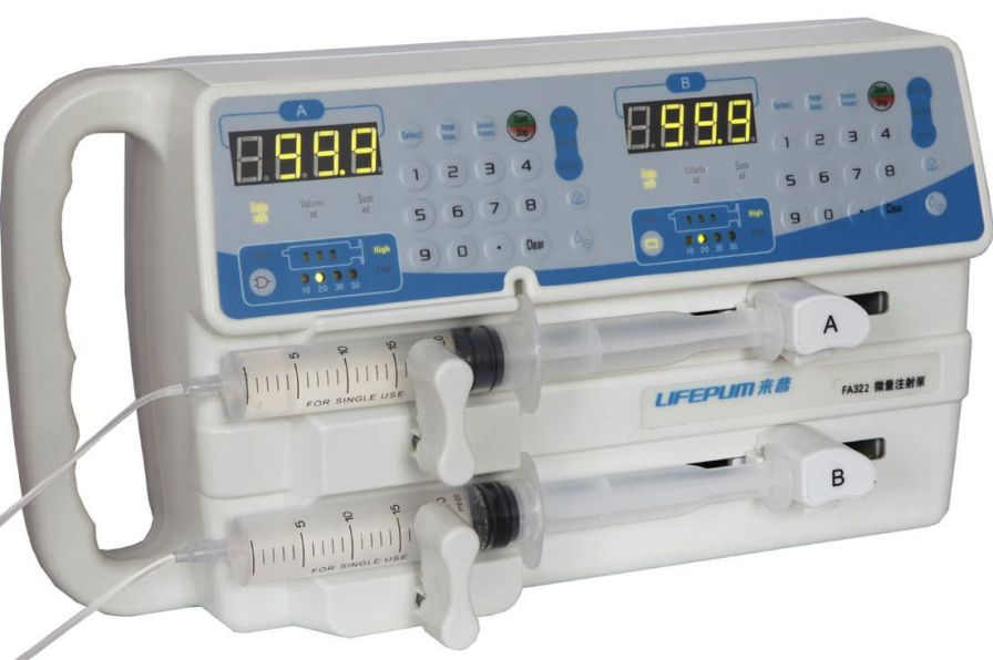 2-channel syringe pump 0.1 - 200 mL/h | FA322 Beijing Xin He Feng Medical Technology Co. Ltd.