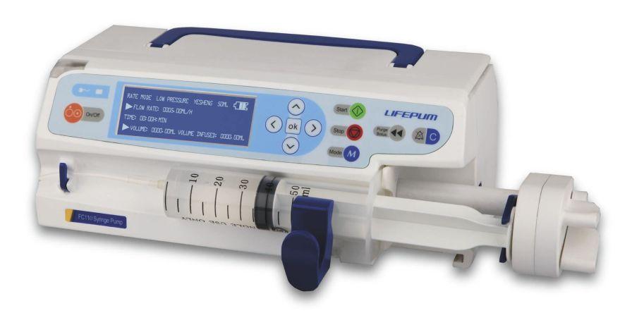1 channel syringe pump 0.01 - 1500 mL/h   FC110 Beijing Xin He Feng Medical Technology Co. Ltd.