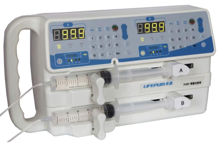 2-channel syringe pump 0.1 - 400 mL/h | FA323 Beijing Xin He Feng Medical Technology Co. Ltd.