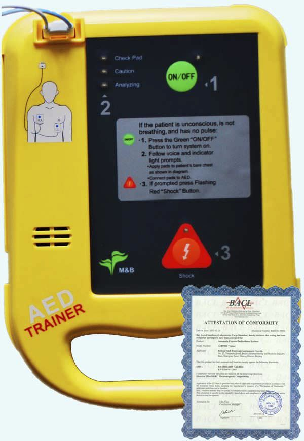 Automatic external defibrillator / training AED7000 Beijing M&B Electronic Instruments