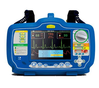 Semi-automatic external defibrillator / with monitor DM7000 Beijing M&B Electronic Instruments