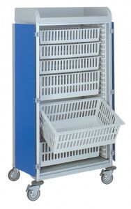 Distribution trolley / multi-function / with basket / modular 3955/3 CR Alvi