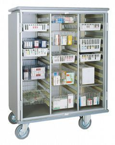 Storage cabinet / for healthcare facilities / with basket / on casters 3180 CR Alvi