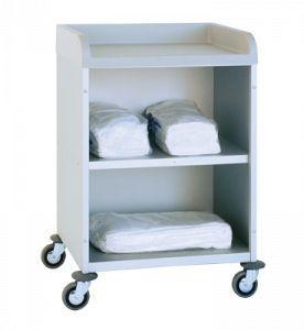 Clean linen trolley / 2-shelf 3950 CR Alvi