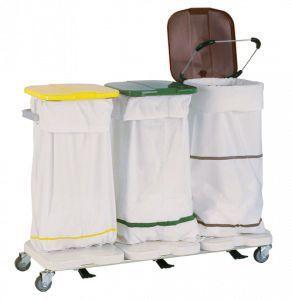 Dirty linen trolley / 3-bag 3840 CR Alvi