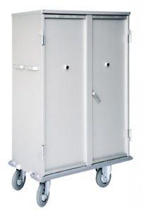 Clean linen trolley / 2-door / with shelf 1550 CR Alvi