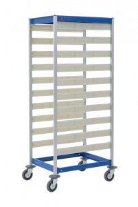 Transport trolley / for sterilization container / open-structure 3430 QR Alvi