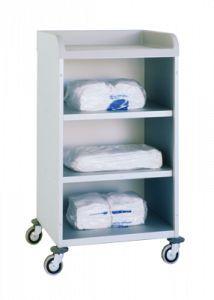 Transport trolley / clean linen / 3-shelf 3950/2 CR Alvi
