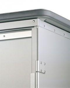 Clean linen trolley / 2-door / with shelf 1610 CR Alvi