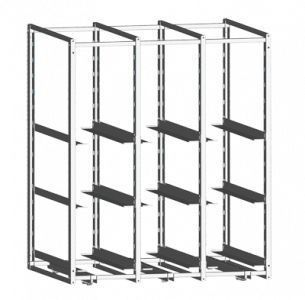 Mobile shelving unit / for containers 5025 CR Alvi