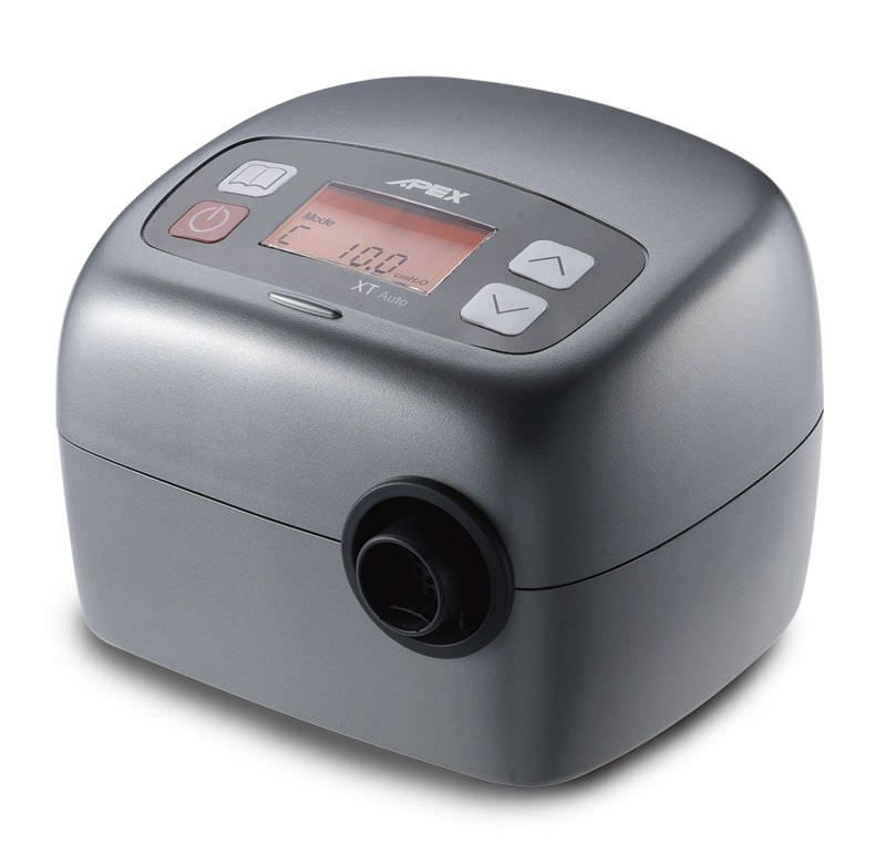 Automatic positive pressure ventilator / APAP / with heated humidifier 4 - 20 cmH2O   CPAP XT Auto Apex Medical