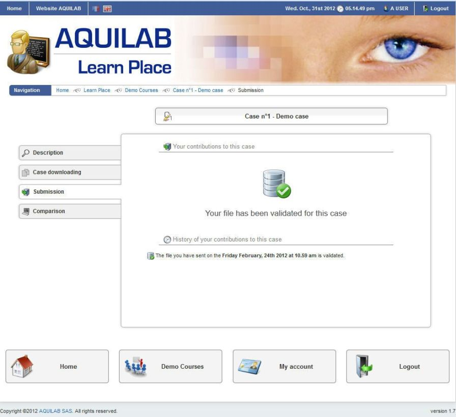 Data exchange web application / for radiation therapy / medical imaging Share Place AQUILAB