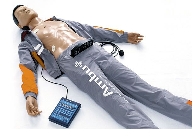 CPR training manikin / with automatic external defibrillator Ambu® Defib Trainer Ambu