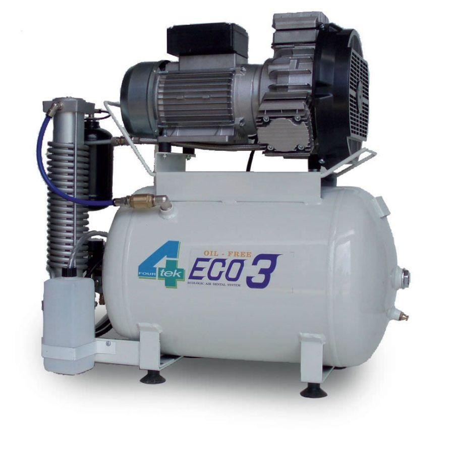 Medical compressor / for dental units / piston / 4-workstation 7 bar | ECO3 4TEK SRL