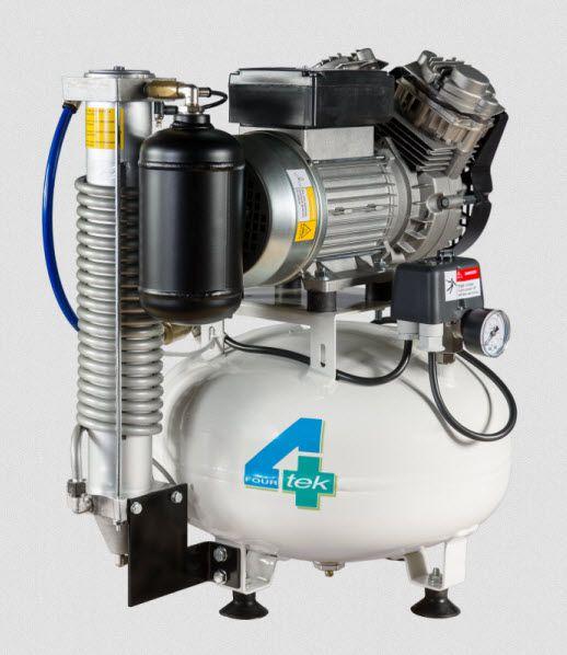 Dental unit compressor / medical / piston / 2-workstation 7 bar | MIR130 4TEK SRL
