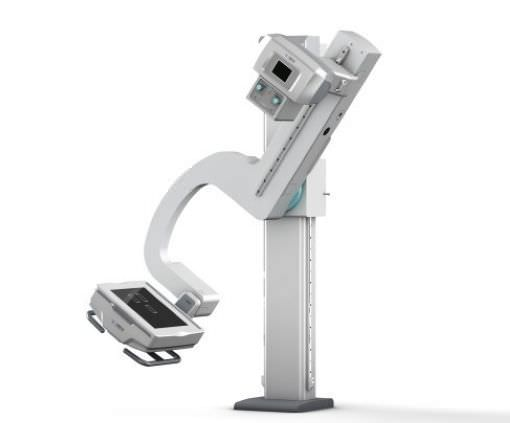 Radiography system (X-ray radiology) / digital / for multipurpose radiography / with swiveling tube-stand Angell technology