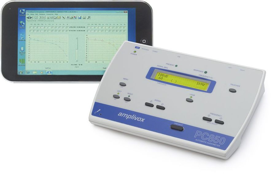 Screening audiometer (audiometry) / audiometer / computer-based PC850 Amplivox Ltd