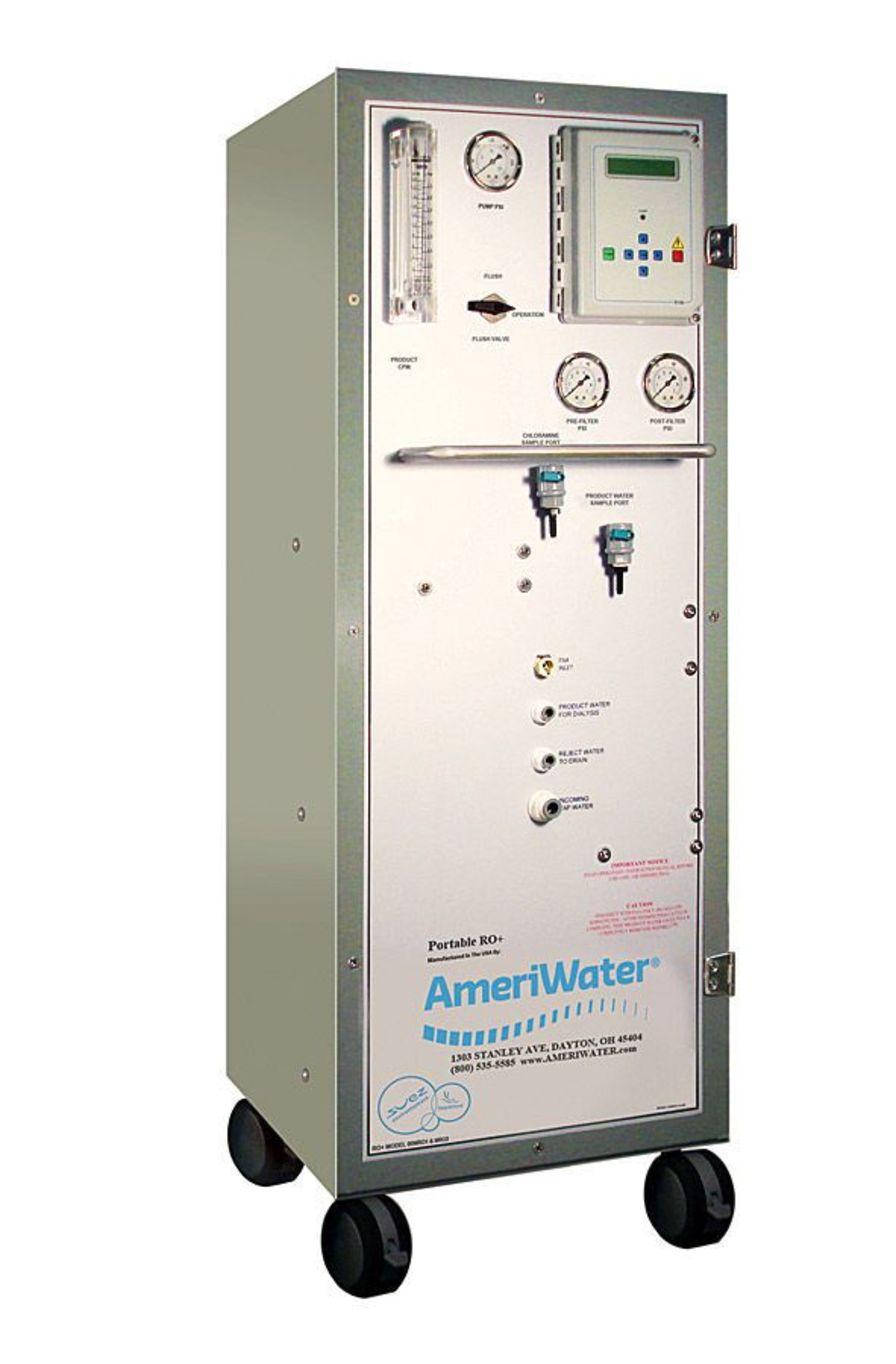 Mobile hemodialysis water treatment system (reverse osmosis) 1900 ml/min | MROS AmeriWater